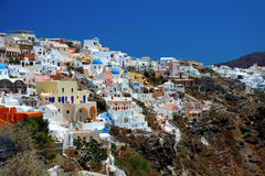 View of Fira town Royalty Free Stock Photos