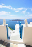 View of Fira town - Santorini Greece Royalty Free Stock Photography
