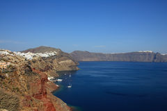 View of Fira town - Santorini Greece Stock Photography