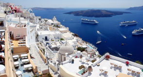 View of fira town. santorini. greece Royalty Free Stock Photography