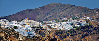 View of Fira town. Santorini. Royalty Free Stock Photo
