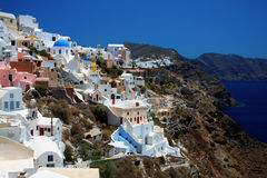 View of Fira town. Santorini Royalty Free Stock Images