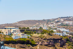 View of Fira town - Santorini island,Crete,Greece.   Stock Photo