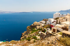View of Fira town - Santorini island,Crete,Greece. Royalty Free Stock Images