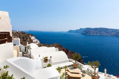 View of Fira town - Santorini island,Crete,Greece Stock Images