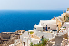 View of Fira town - Santorini island, Crete, Greece Royalty Free Stock Photography