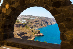 View of Fira town - Santorini island,Crete,Greece Royalty Free Stock Photos