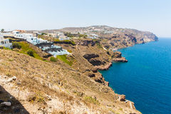 View of Fira town - Santorini island,Crete,Greece. Stock Photography