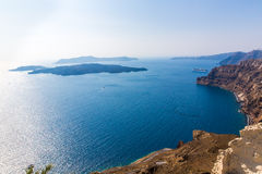 View of Fira town - Santorini island,Crete,Greece. Royalty Free Stock Image