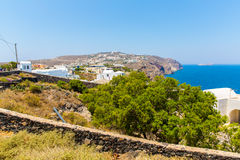 View of Fira town - Santorini island,Crete,Greece. Stock Photo