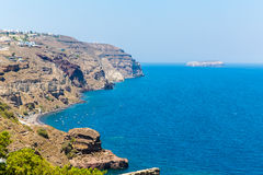 View of Fira town - Santorini island,Crete,Greece Stock Photo