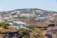 View of Fira town - Santorini island,Crete,Greece Royalty Free Stock Photography