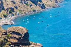 View of Fira town - Santorini island,Crete,Greece Stock Photos