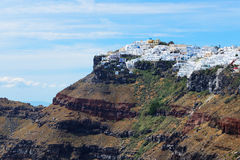 The view on Fira town Royalty Free Stock Photography