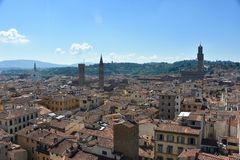 View Firenze. Beautiful view over Florence Italy Royalty Free Stock Images
