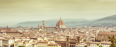 Firenze Skyline. View of Firenze Skyline with vintage colors. Italy Royalty Free Stock Photo