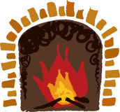 The view of fireplace Stock Photography