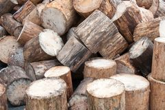 View of firewood logs in a stack Stock Photography