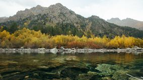 View of first Baduk lake at autumn stock images