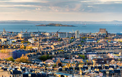 View of the Firth of Forth from Edinburgh Royalty Free Stock Images