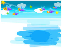The view of Fish. Underwater Stock Photo