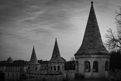 View on fisherman bastion towers. Budapest, Hungary. Royalty Free Stock Image