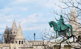 A view of the Fisherman's Bastion in Budapest Stock Photo