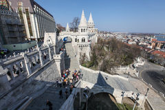 View from Fishermans Bastion in Budapest Royalty Free Stock Photography