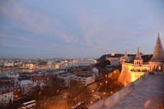 View from Fisherman's Bastion of Hungary Royalty Free Stock Photos