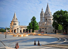 View of Fisherman's Bastion with a nice morning sunlight in Buda Stock Images