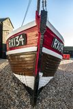 A view of the Fisherman`s Museum quarter, Hastings, East Sussex, England. A view of the Hastings Fisherman`s Museum quarter. Here are many old fishing boats and royalty free stock image