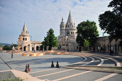 View of the Fisherman's bastion with a nice morning sunlight Royalty Free Stock Photo