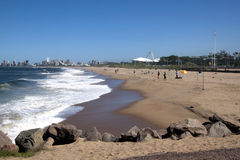 View of Fishermen on Beach in Durban Royalty Free Stock Photo