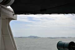 View from fishing boat Stock Photo