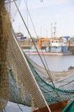 View through fishing nets Royalty Free Stock Photo