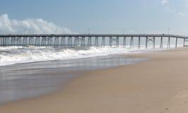 Fishing Pier at Kure Beach, NC royalty free stock images