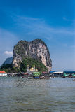 View of fishing village Ko Panyi Koh Panyee in Phang Nga Bay, Thailand Royalty Free Stock Photos