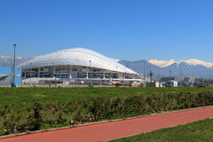 View of the Fisht stadium from the Olympic embankment. Russia Stock Image