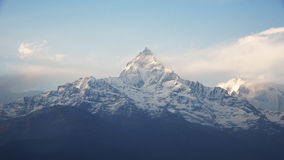 View of fishtail in Annapurna range, Nepal Stock Image