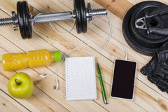 View Of Fitness Equipment Royalty Free Stock Image