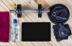 View Of Fitness Equipment Royalty Free Stock Photo