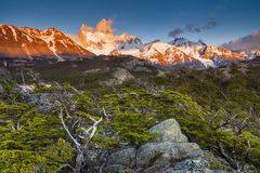 View of Fitz Roy mountain. Los Glaciares National Park, Royalty Free Stock Photo