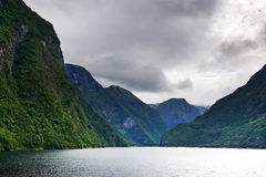 View of the fjord in a cloudy weather, Nor Royalty Free Stock Photography