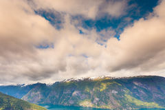 View of the fjords at Stegastein viewpoint in Norway Stock Images