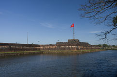View of Flag Tower Cot Co, moat and walls of the Citadel of H royalty free stock photography