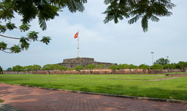 View of the Flag Tower in Hue Royalty Free Stock Photography