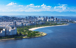View of Flamengo beach and district and Centro in Rio de Janeiro stock images