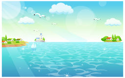 The view of Flamingos Stock Images