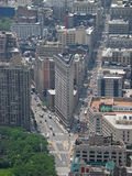 View of Flatiron. Southern view from Empire State Building which includes the Flatiron building royalty free stock photo