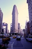 View on Flatiron Building and the surrounding area stock image